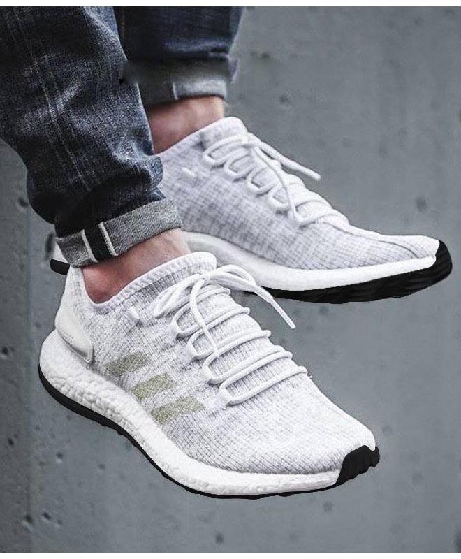 Adidas Laufschuhe running Schuhe Turnschuhe Ausbilder weiß pureboost 2018 Herren