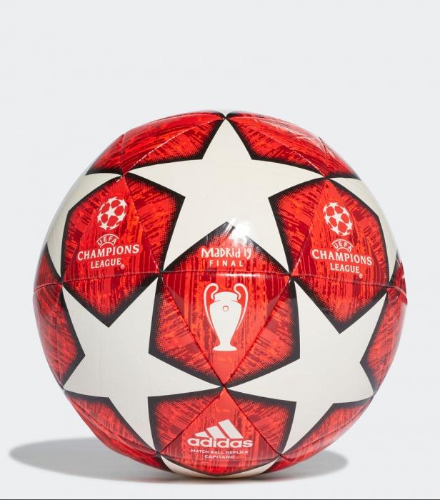 ... Pallone Calcio Adidas Capitano Uefa Champions League Finale Madrid 2018  19 rosso Originale - Football Ball ... 4103c91e14298