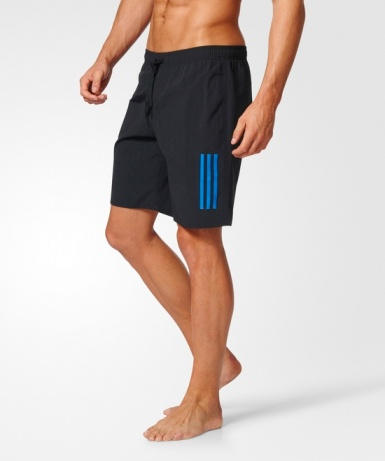Costume da bagno Spiaggia pantaloncini adidas 3 STRIPES uomo Nero 2017 Swimsuit Beach shorts