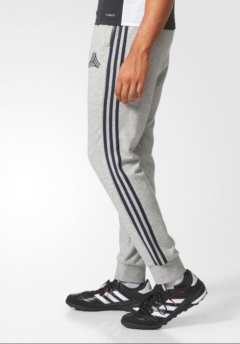 Adidas Track Pants Hose Tango Sweat Jogger Grau Knöchel eng mit elastischen | eBay