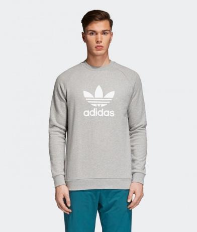 Adidas Originals Trefoil Sweatshirt Sports Crew Trefoil Grey 2018 Men | eBay