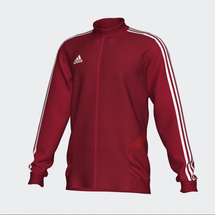 Détails sur Adidas Training Jacket Veste Rouge Climalite Tiro 19
