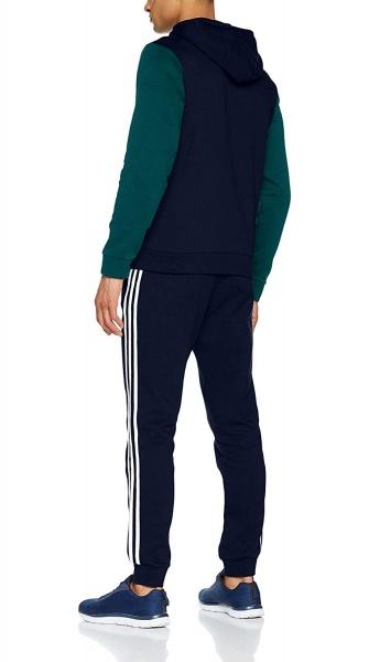 9dd765fb8fb7 ... Tuta Tempo Libero Adidas ENERGIZE TS Cappuccio Cotone Uomo Blu verde  Originale - Leisure Tracksuit Adidas
