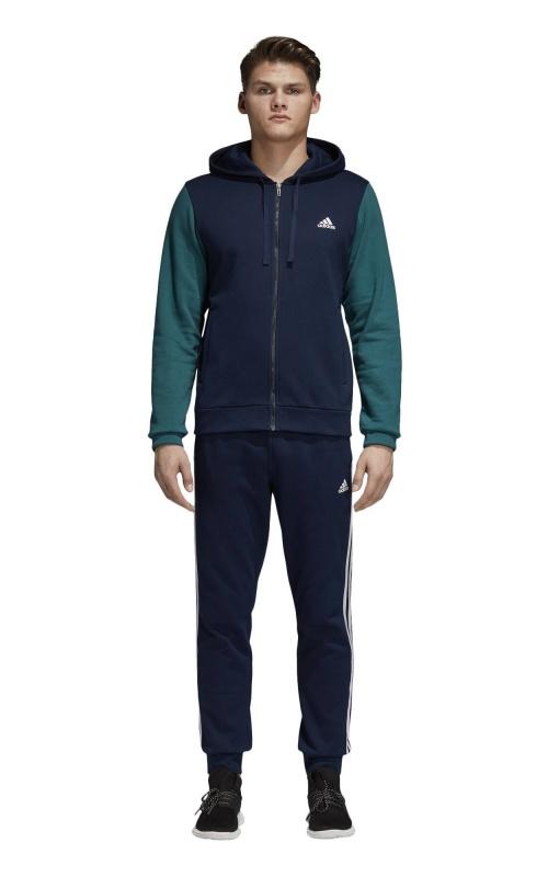 aabb4a176c79 ... Tuta Tempo Libero Adidas ENERGIZE TS Cappuccio Cotone Uomo Blu verde  Originale - Leisure Tracksuit Adidas ...