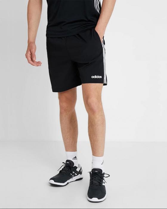Détails sur Adidas Shorts Hose Essentials 3 Stripes Chelsea Homme Noir Avec des poches