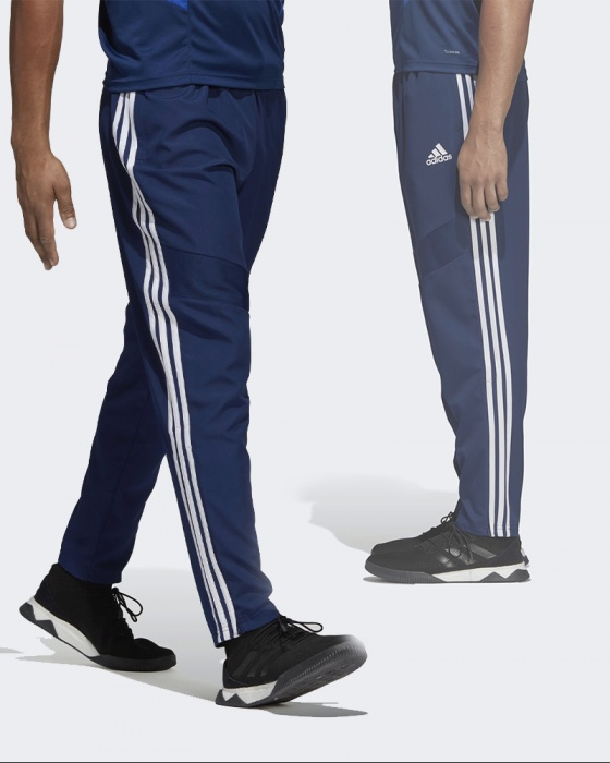 Adidas trousers pants blue throw woven 19 man zippered pockets | eBay