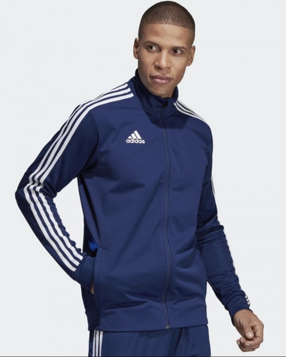Dettagli su Adidas Giacca Tuta Allenamento Training Jacket apertura Full zip Blu Tiro 19