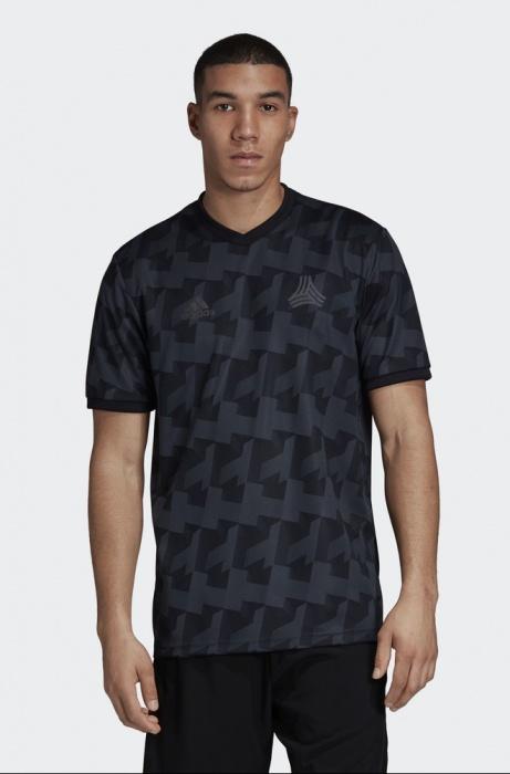 Détails sur Adidas Loisirs T shirt 2019 Noir Climacool Tango AOP