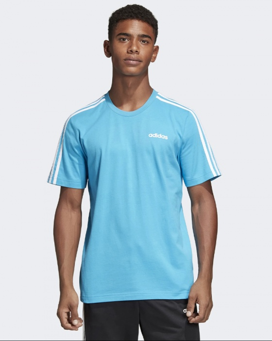 uomo adidas 3 stripe t shirt