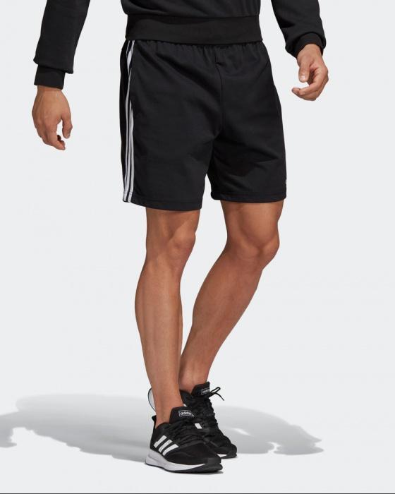 efe9e6395 ... pantaloncini Cotone adidas Essentials 3 Stripes Single Jersey Nero con  tasche - cotton shorts adidas Essentials ...