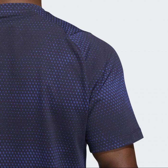 adidas graphic 70s tee maglietta uomo blu large