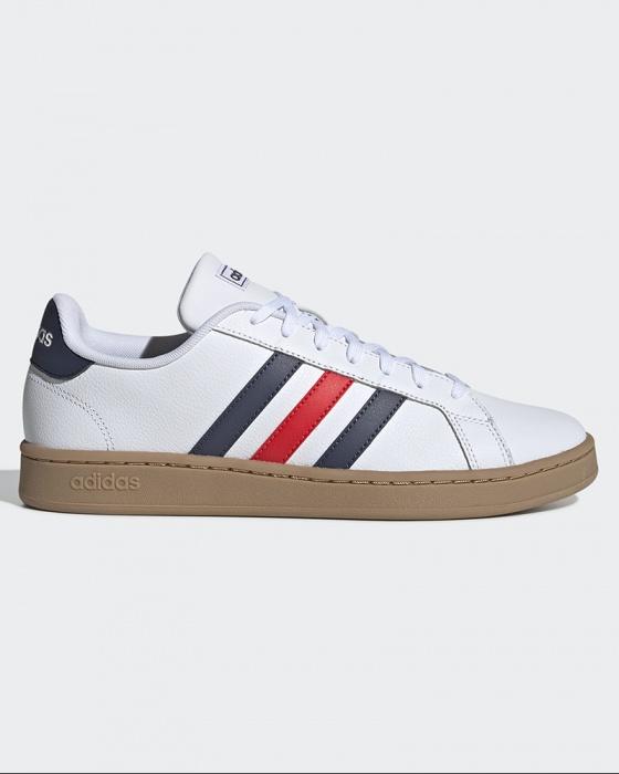 Dettagli su Adidas Scarpe Sportive Sneakers Bianco Grand Court