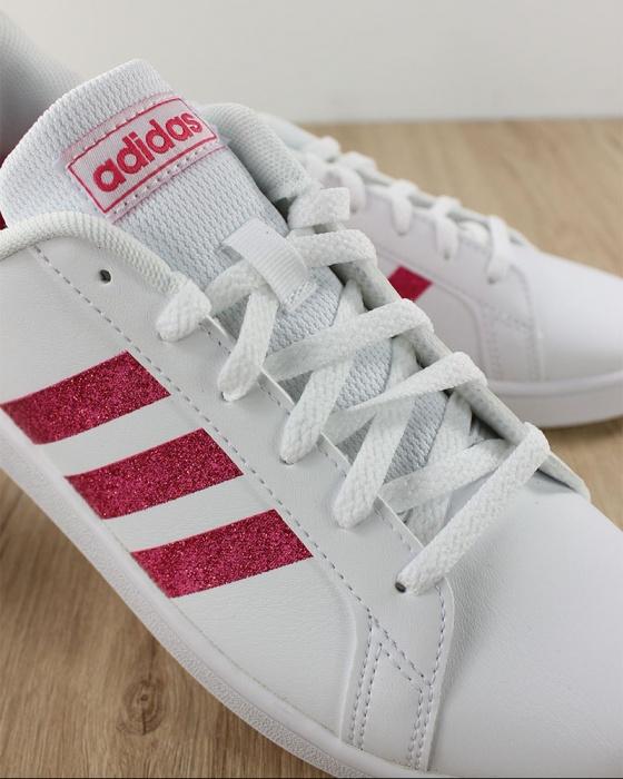 Adidas Scarpe Sportive Sneakers Grand Court Bianco Rosa