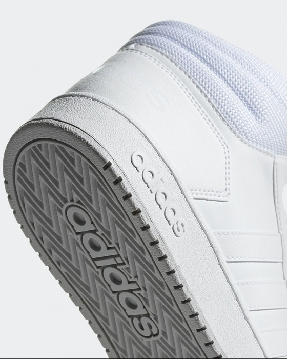 Adidas Chaussures sportif Sneakers Total Bianco Cheville haute HOOPS 2.0 MID | eBay