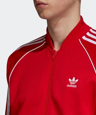Adidas Originals Trefoil giacca sportiva SST TRACK TOP Rosso 2018 Uomo   eBay
