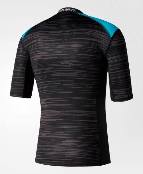 competitive price c14e3 bbe78 ... maglia Termica Adidas Techfit Base Fitted Graphic Tee Intimo Tecnico  originale Maniche Corte Nero - Base ...