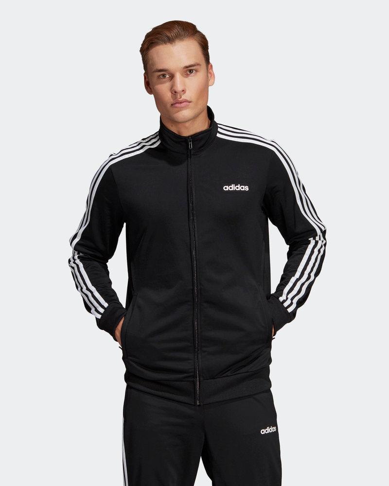 Adidas-Tuta-Sportiva-Uomo-Nero-ESSENTIALS-3-STRIPES-Tempo-Libero-2020 miniatura 6
