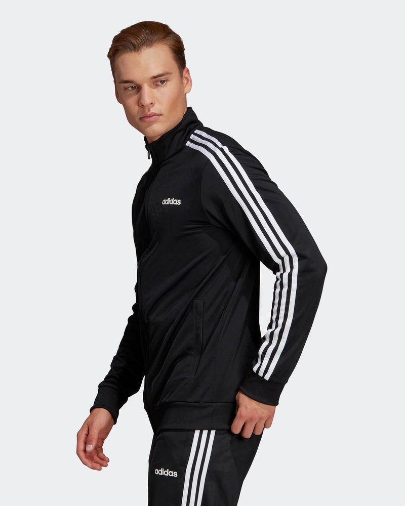 Adidas-Tuta-Sportiva-Uomo-Nero-ESSENTIALS-3-STRIPES-Tempo-Libero-2020 miniatura 9