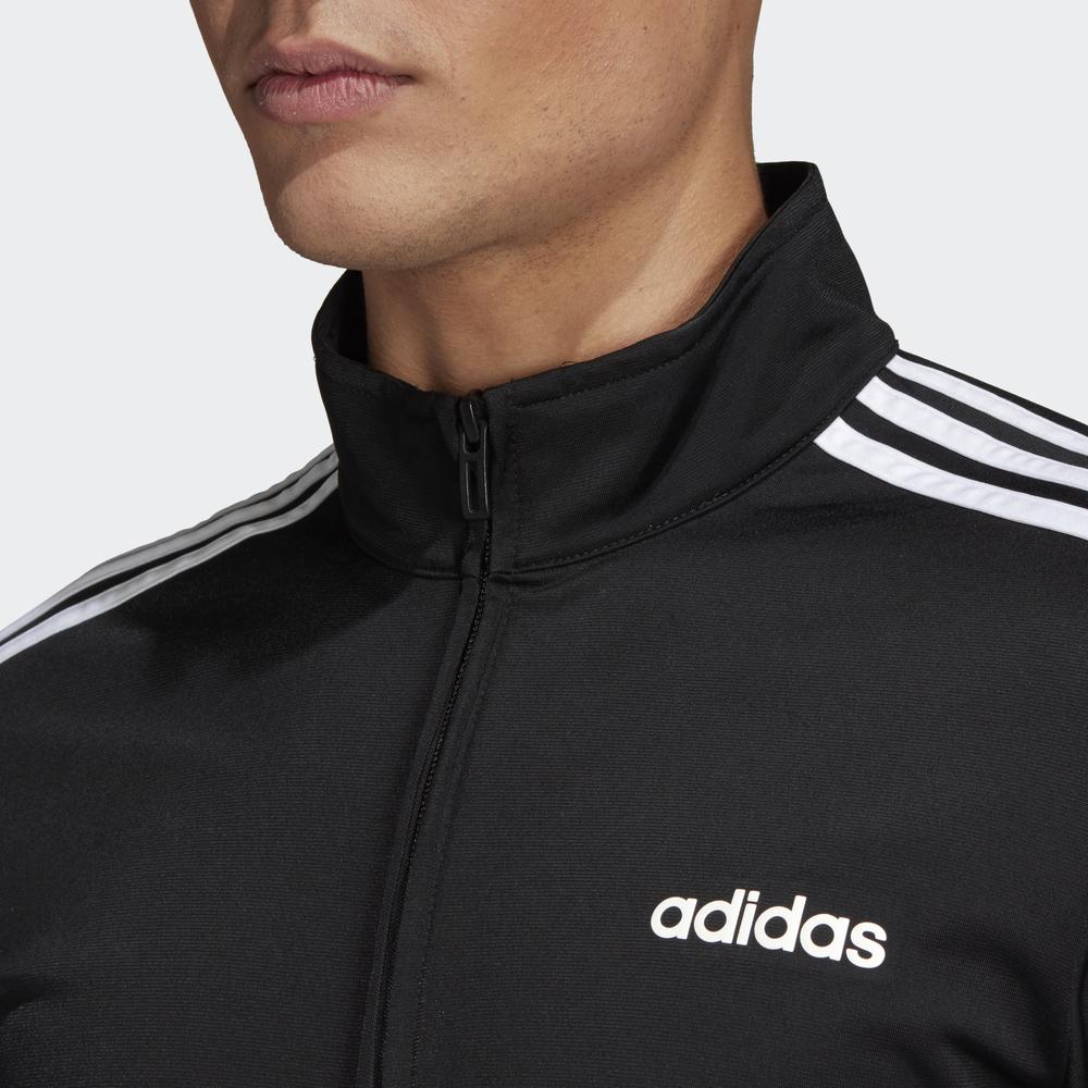 Adidas-Tuta-Sportiva-Uomo-Nero-ESSENTIALS-3-STRIPES-Tempo-Libero-2020 miniatura 4