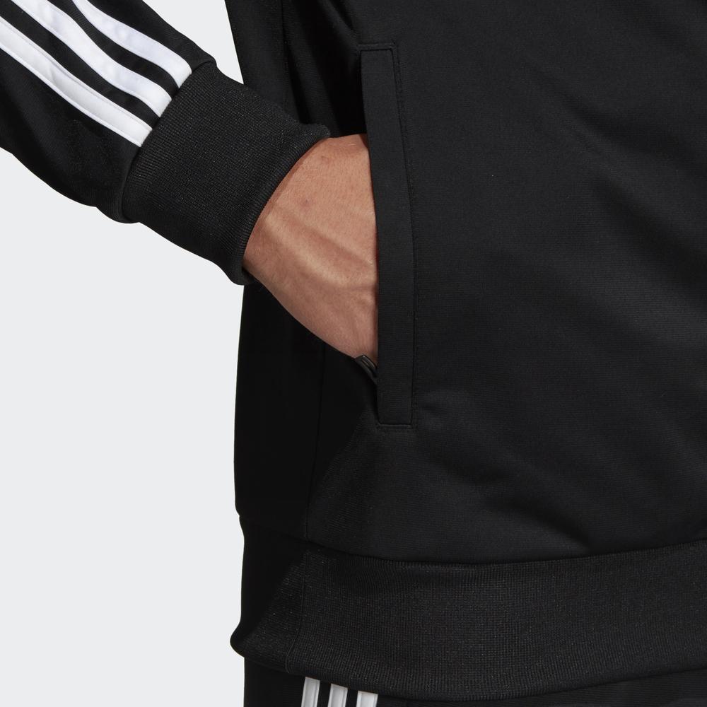 Adidas-Tuta-Sportiva-Uomo-Nero-ESSENTIALS-3-STRIPES-Tempo-Libero-2020 miniatura 7