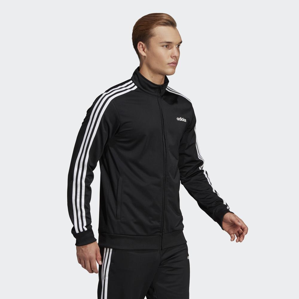Adidas-Tuta-Sportiva-Uomo-Nero-ESSENTIALS-3-STRIPES-Tempo-Libero-2020 miniatura 5