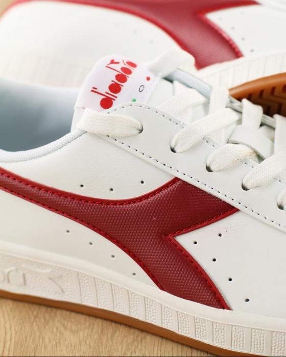 Dettagli su Diadora Scarpe Sportive Sneakers lifestyle Sportswear Bianco Rosso GAME P Uomo