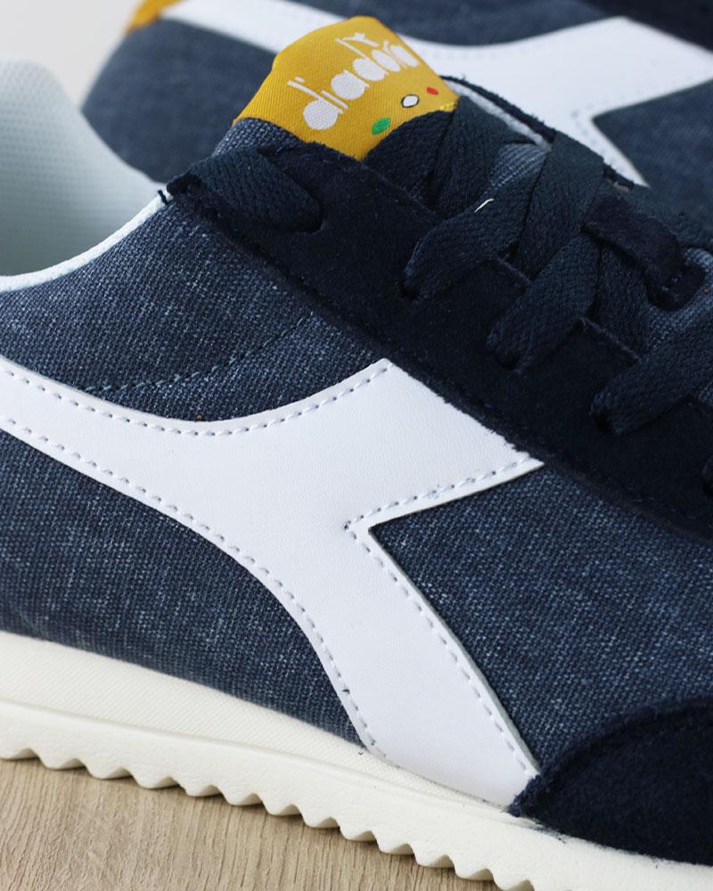 Diadora-Scarpe-Sportive-Sneakers-lifestyle-Sportswear-Jog-Light-Blu-canvas miniatura 5