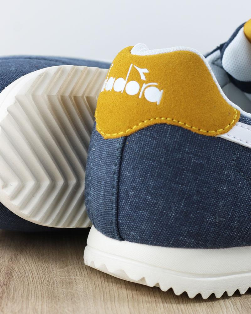 Diadora-Scarpe-Sportive-Sneakers-lifestyle-Sportswear-Jog-Light-Blu-canvas miniatura 6