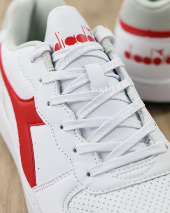 Diadora Scarpe Sportive Sneakers Sportswear Bianco Rosso Lifestyle Playground   eBay