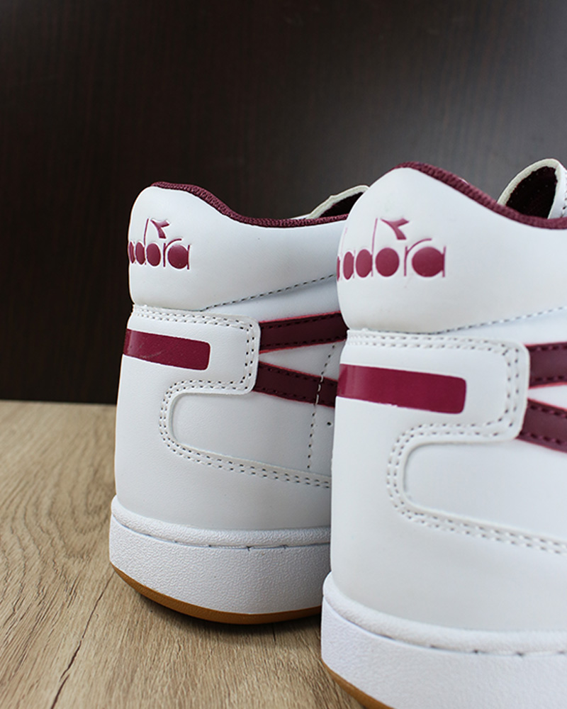 Chaussures de Violet Mid Playground Diadora Sportswear Sneakers sport High Blanc yv0mN8nOw