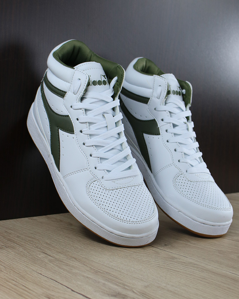 factory authentic df9e9 76ed2 Mid Sportive Scarpe Basket Bianco Playground Sneakers High Diadora wqA0ntH