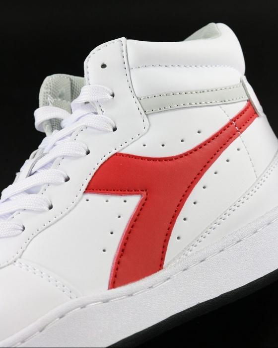Dettagli su Diadora Scarpe Sportive Sneakers Sportswear Bianco Rosso Playground High 2019