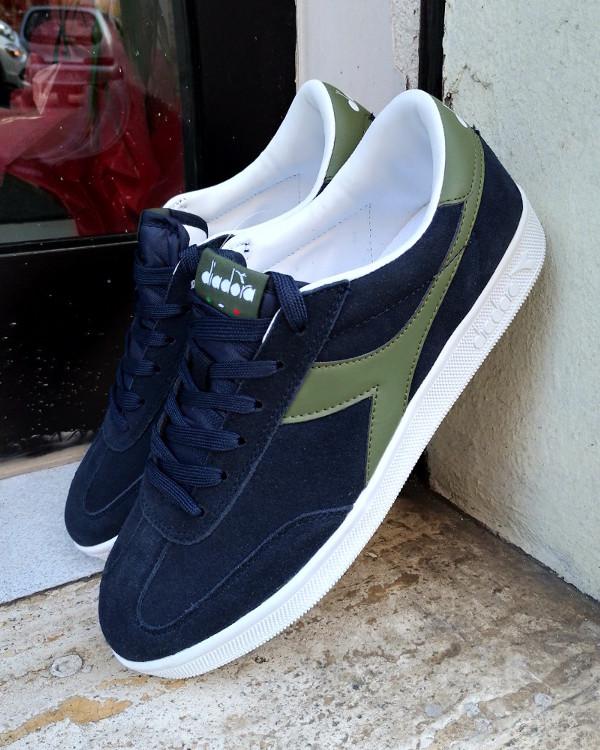 Diadora Scarpe Sneakers Sportive lifestyle sportswear Field Blu verde 7e44ea37afa