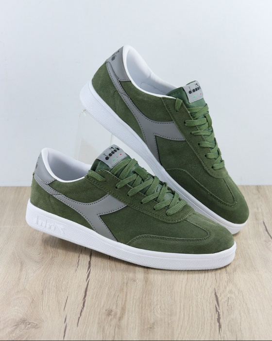 Dettagli su Diadora Scarpe Sportive Sneakers Sportswear Verde Field 2019 Lifestyle