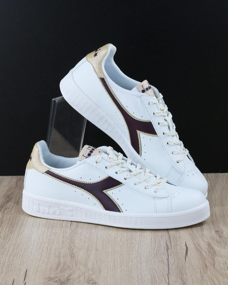 DIADORA SCARPE SPORTIVE Sneakers Lifestyle Sportswear Game P GS Bianco Viola