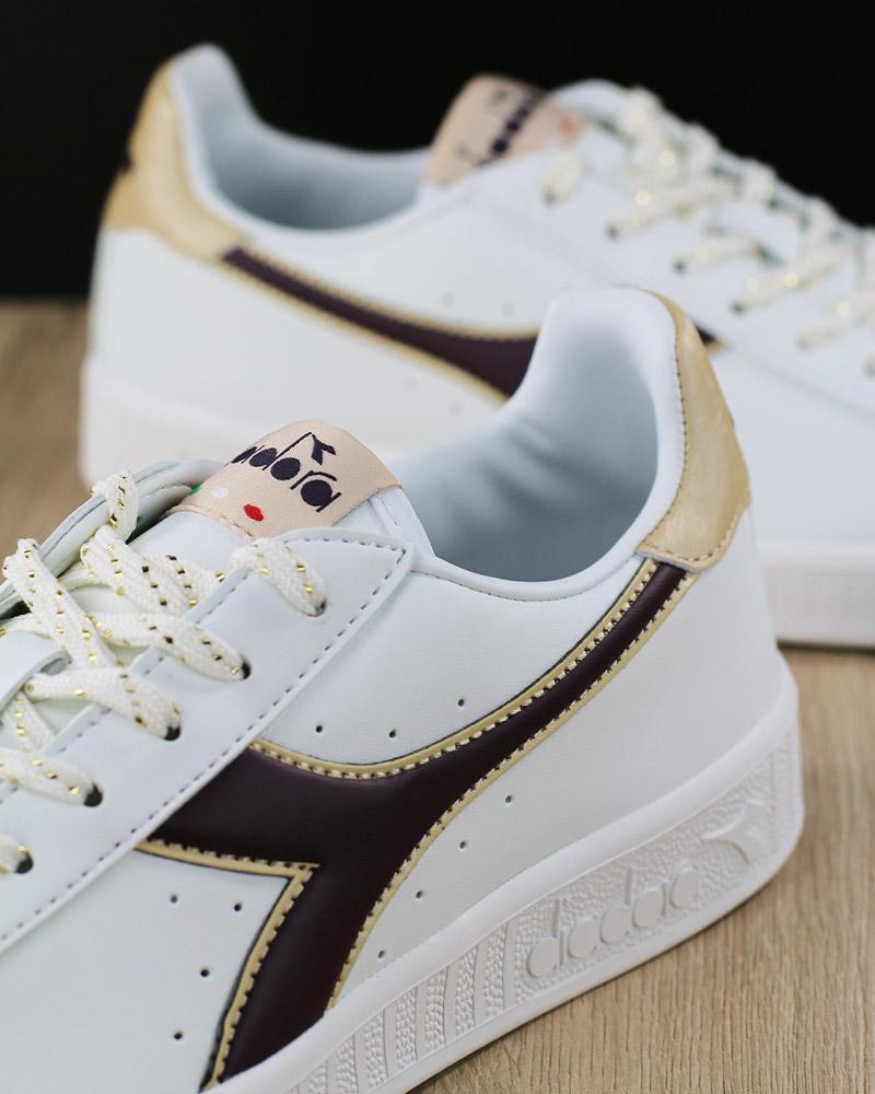 Diadora Scarpe Sportive Sneakers Lifestyle Sportswear Game P GS Bianco  Viola 5 5 di 8 ... 7b92f1a7ed7
