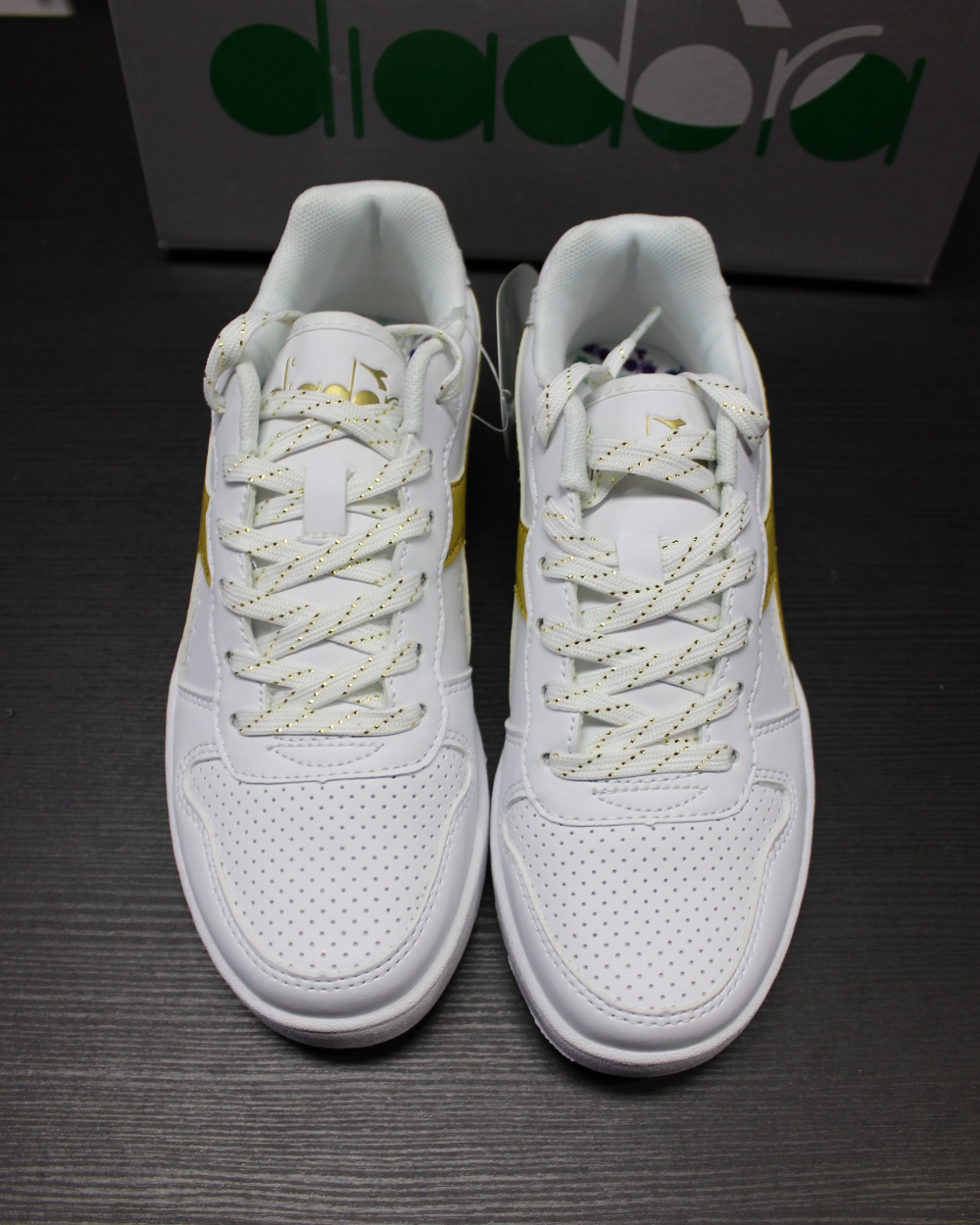 Diadora or Chaussures sportif Chaussures Sneakers Playground Femme or Diadora blanc e82a49