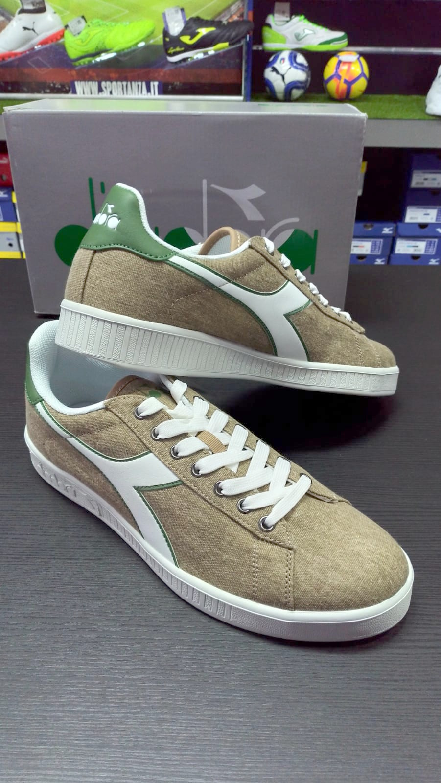 Diadora Scarpe Sneakers Ginnastica Tennis LifeStyle Beige Game Canvas