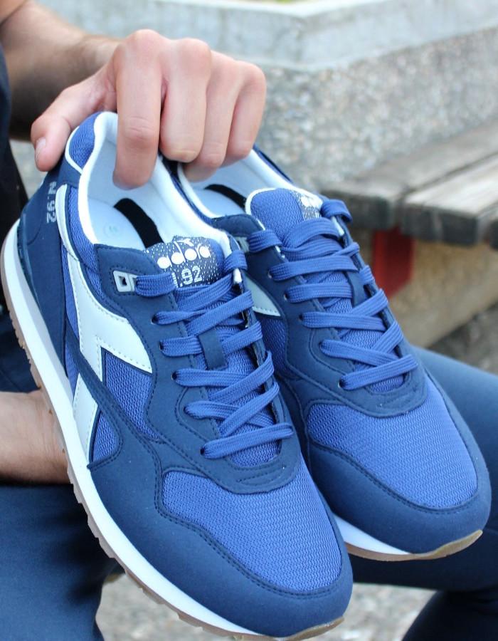 Diadora Sport Schuhe Shoe Sneakers lifestyle N.92 Blau C7329 2018 Herren