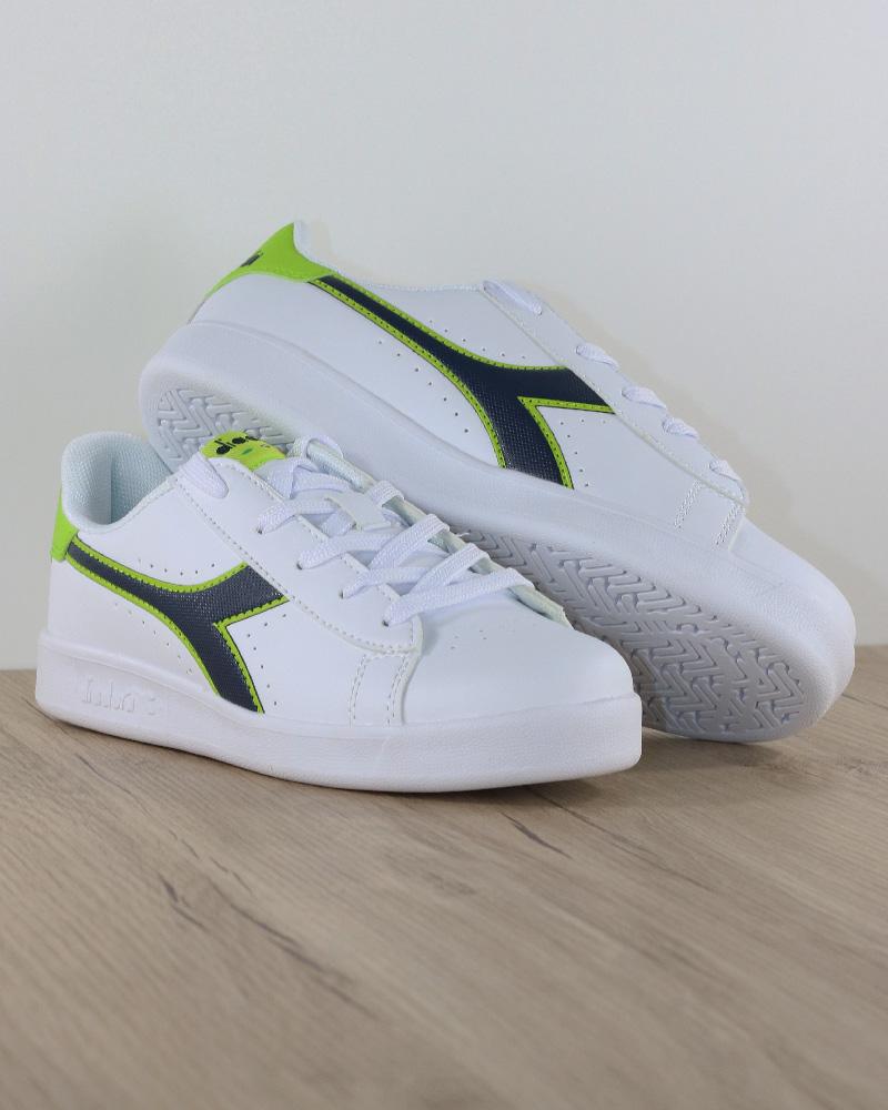 Diadora-Scarpe-sportive-Sneakers-Game-P-GS-Donna-Bambino-Lifestyle-Bianco-Verd miniatura 8