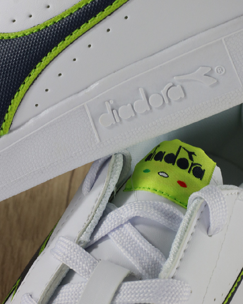 Diadora-Scarpe-sportive-Sneakers-Game-P-GS-Donna-Bambino-Lifestyle-Bianco-Verd miniatura 3