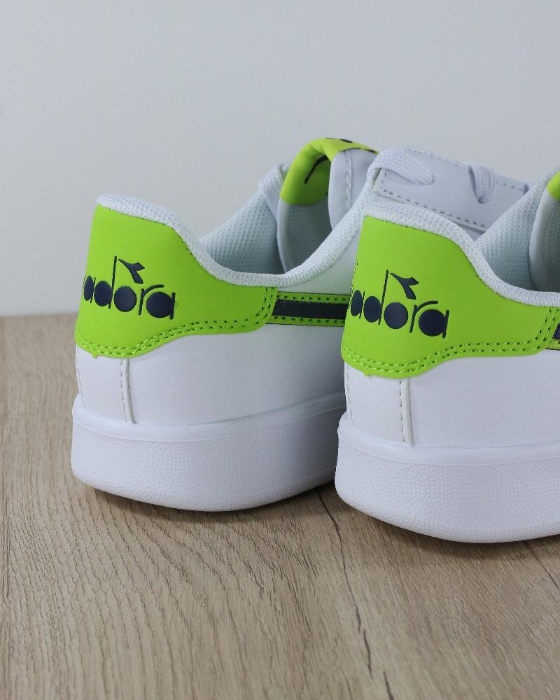 Diadora-Scarpe-sportive-Sneakers-Game-P-GS-Donna-Bambino-Lifestyle-Bianco-Verd miniatura 4