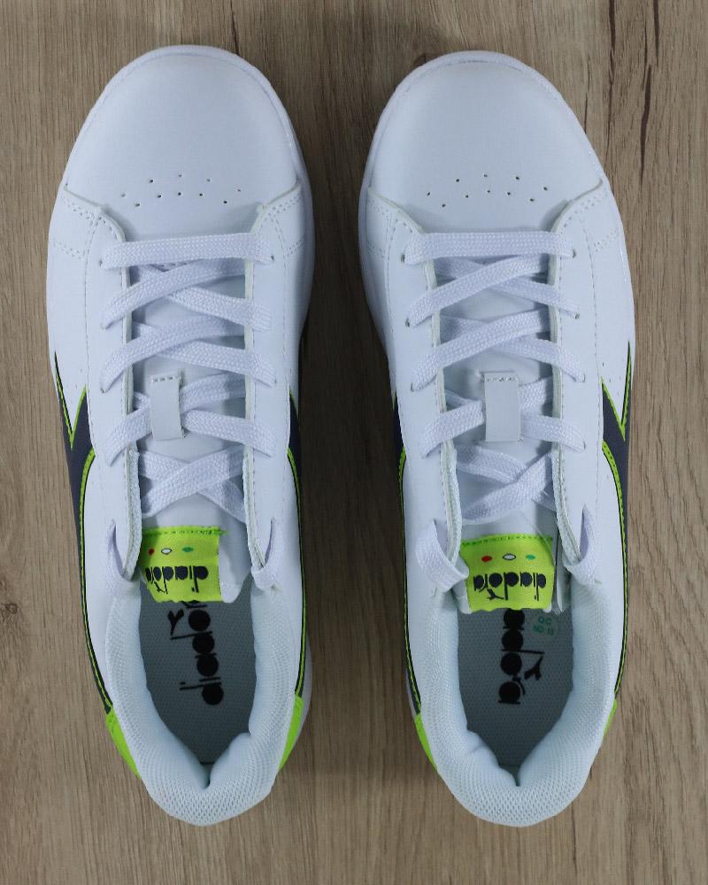 Diadora-Scarpe-sportive-Sneakers-Game-P-GS-Donna-Bambino-Lifestyle-Bianco-Verd miniatura 5