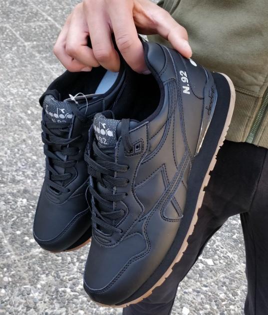 ... Scarpe Sportive Sneakers Diadora N-92 Leather LifeStyle Sportswear Nero  - Sport Shoes boots Sneakers ... 44628b48435