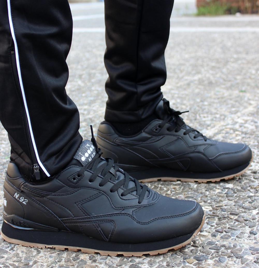 pretty nice 18d94 8bda1 Details about Diadora Sneakers Shoes Schuhe Sport Lifestyle N.92 Leather  Black