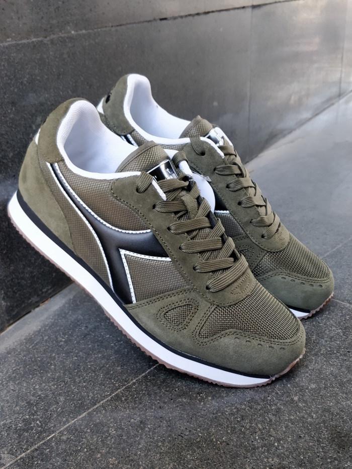 Diadora Sport Schuhe grün Sneakers Schuhe Simple Run grün Schuhe lifestyle b73d0a