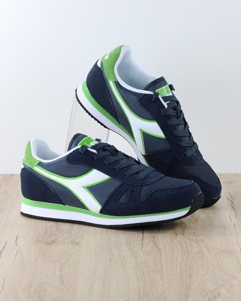 Diadora Scarpe Sportive Sneakers Lifestyle Sportswear Simple Run Blu Verde  4 4 di 8 ... 922b8055a21