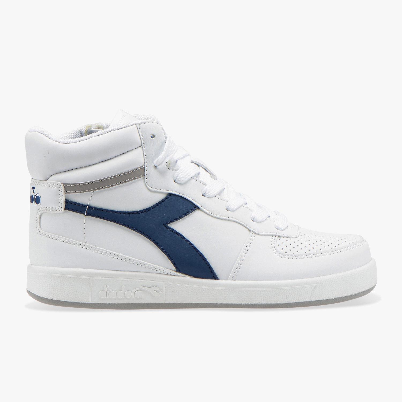 Diadora-Scarpe-Sportive-Sneakers-Playground-High-Basket-Mid-Lifestyle-Bianco miniatura 8