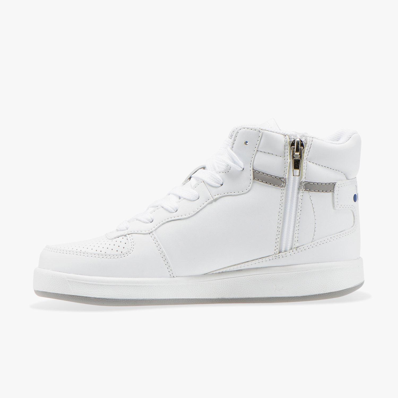 Diadora-Scarpe-Sportive-Sneakers-Playground-High-Basket-Mid-Lifestyle-Bianco miniatura 6