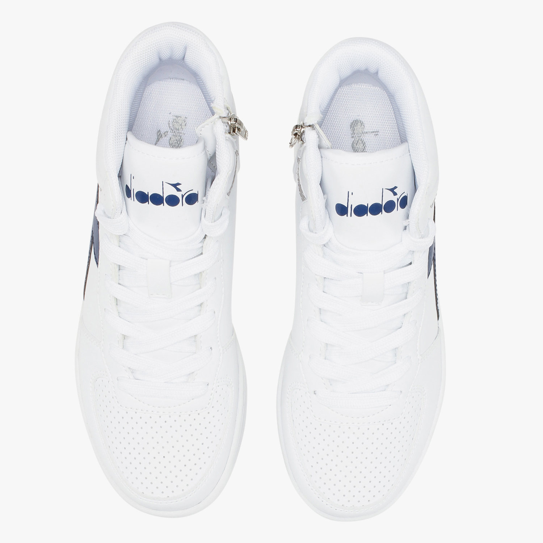 Diadora-Scarpe-Sportive-Sneakers-Playground-High-Basket-Mid-Lifestyle-Bianco miniatura 5